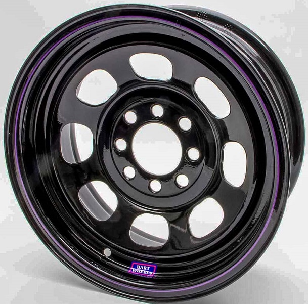 "14"" x 7"" Black Steel Wheel 3"" BS 4x4-1/4"" + 4x4-1/2"""
