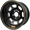 8^ STEEL WHEEL    BLACK POWDER PAINTED