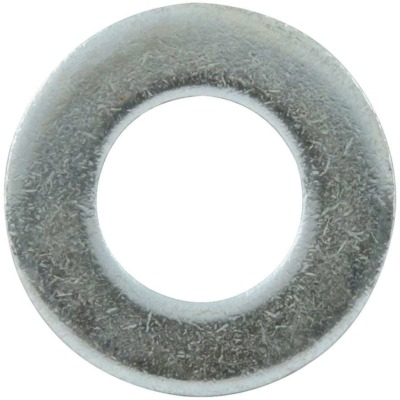 Flat Washer, 7/16 in ID, Steel, Zinc Oxide, Each