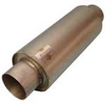 MUFFLER 12^L. x 5^ ROUND x 3.5^ IN x 3.5^ OUT