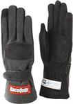 X-SMALL SFI-5 DOUBLE LAYER  BLACK GLOVES